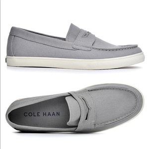 Cole Haan Hyannis Canvas Penny Loafers Size 8.5